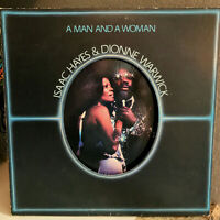 """ISAAC HAYES & DIONNE WARWICK - A Man And A Woman - 12"""" Vinyl Record LPs - EX"""
