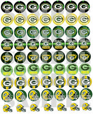 "SET of 56- 1"" PRECUTS ""GREEN BAY PACKERS"" Bottlecap images. WE CUT THEM!!"