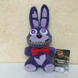 """6"""" FNAF FIVE NIGHTS AT FREDDY'S NIGHTMARE BONNIE PLUSH TOY kids gift doll s"""