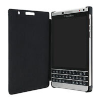 BlackBerry Passport Silver Edition Leather Flip Case (Black)
