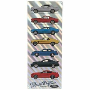 Ford Mustang 7-Car Iridescent Metal Sign  Mach BOSS Fox & More! Free US Shipping