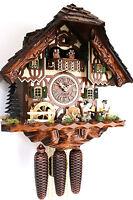 cuckoo clock hettich black forest 8 day original germany  music beer drinker
