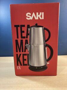Saki Tea Maker 120 Volt Red Stainless Steel Body 1.7L Liter