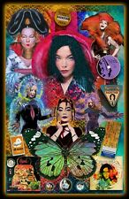 "Bjork -11x17"" poster - signed by artist - vivid-colors - very detailed"