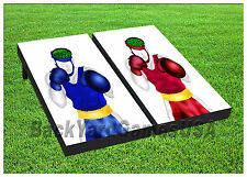 Vinyl Wraps Cornhole Boards Decals Blue & Red Boxer BagToss Game Stickers 336