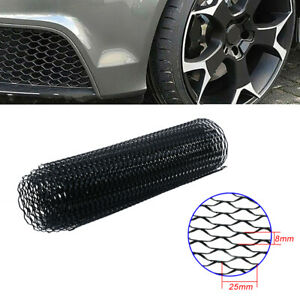 """Black Universal Aluminum Car Vehicle Body Grille Net Mesh Grill Section 40""""x13"""""""