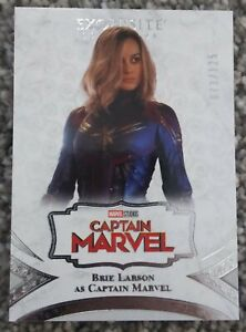 Brie Larson as Captain Marvel Exquisite /125 2021 UD Marvel Black Diamond #6 SP