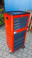 Werkstattwagen Basic rot 10 Schubladen + Aufsatz Werkzeugwagen Werkzeugtruhe