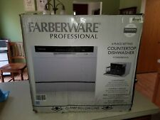 Used Faberware Professional 6 Place Setting Countertop Dishwasher Fcd06Abbwha