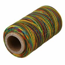 250M 1mm Multicolor Leather Sewing DIY Stitching Flat Waxed Thread Cord 150D