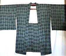 VTG JAPANESE HAORI KIMONO - SHORT - BLACK-GREY