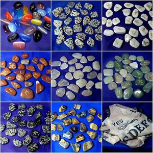 PAG017 Rune Stones Elder Futhark Alphabet + Pouch + Instructions Many Types