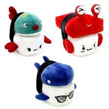 """Crab Blowfish Shark 6"""" Sushi Plush x3 Set Pillow Cushion Doll Gift Bedding Decor"""