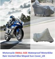 Motorcycle SMALL SIZE Waterproof Motorbike Rain Vented Bike Moped Sun Cover_UK