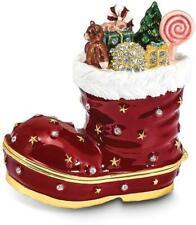 Bejeweled BOOTS Stocking Trinket Box