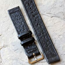 Short Length Real Shark 16mm vintage watch band 1950s NOS Staybrite steel buckle