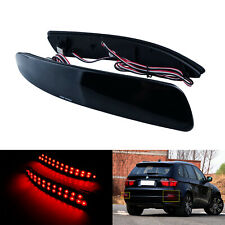 Fit BMW X5 E70 M 2006-13 LED Bumper Reflector Light Lamp Black Smoked Lens Cover