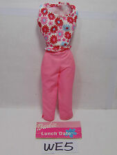 NEW MATTEL BARBIE OUTFIT SET ONLY DRESS-ACCESSORIES-LUNCH DATE-PINK CAPRIS-50607