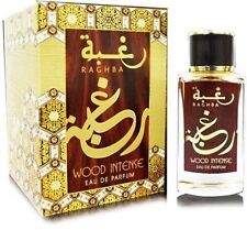 Raghba Wood Intense 100ml By Lattafa Woody Musk Arabian Oud Kalemat spray