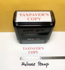 Taxpayers Copy Rubber Stamp Red Ink Self Inking Ideal 4913