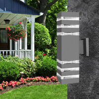 Modern LED Wall Light Waterproof Exterior Up Down Cuboid Sconce Lamp Fixture US