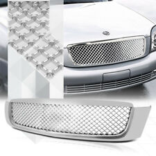 Glossy Chrome ABS 3D Wave Mesh Bumper Grille/Grill for 00-05 Cadillac DeVille