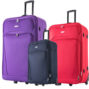 XL Large Suitcase Expandable Lightweight Luggage Travel Trolley CABIN Wheeled