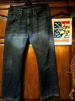 Levi's 569 Jeans Distressed Faded Hippie Boho punk Denim 32x30