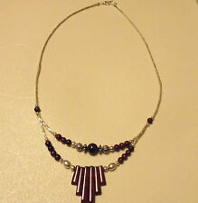"19"".Silver & Browntone Beads. Ladies Double Strand Beaded Necklace.App"
