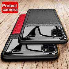 For iPhone 11 / 11 Pro Max XS XR SE2 7 8 Plus Leather Hybrid TPU Slim Case Cover