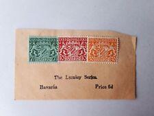 1916/ WWI Bavaria Dienstmarke Stamps (Germany). 7.5/ 10/ 30 Pfennig (Unfranked)