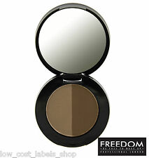 Freedom Makeup Brow Eyebrow Powder Duo Dark Brown