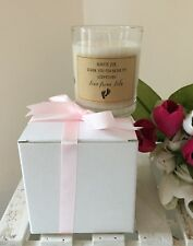 Handmade And Personalised Thank You For Being My Godparent Candle Gift