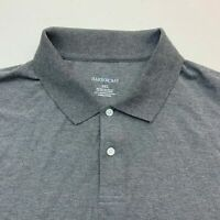 Harbor Bay Polo Shirt Mens 3XL Gray Short Sleeve Two Button Up Casual Polos