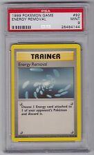 Pokemon TCG Base Set Energy Removal UK 4th Print #92 PSA 9 MINT