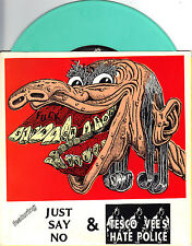 Tesco Vee's Hate Police / Just Say No - 7 Inch GREEN MARBLE Vinyl Record NEW