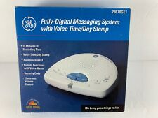 GE Digital Answering System General Voice Time/Day Stamp & Remote Functions NEW