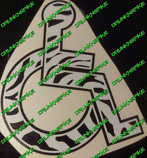 DISABLED DISABILITIES DISABLED DRIVER ZEBRA CAR STICKER VINYL MOBILITY
