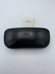 Coach Sunglasses case Eyeglasses Hard Black Logo Soft Interior Larger Size New
