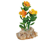 Desert Plant with Rock Base Vivarium Terrarium Reptile Ornament Decoration