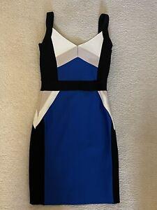 Herve Leger bandage Blue/black/white dress Size S