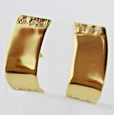 Massive Gelbgold Ohrringe mit Brillanten 0,26 Ct 750 / 18K Handarbeit