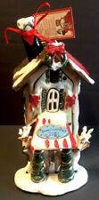 "Blue Sky Clayworks ""Comet & Vixens Cozy Hotel� Christmas Cottage Candle Holder"