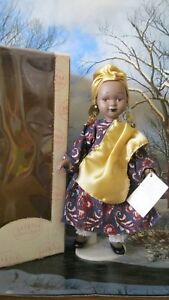"Show Stoppers Children of all Nations Porcelain 8"" doll IVORY COAST used w/box"