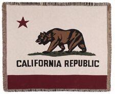 New State Flag of California Woven Afghan Throw Gift Blanket Bear Logo Republic