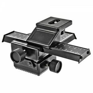 Kreuz Makroschlitten 4-Wege - VOLLMETAL-  3D Einstellschlitten (kein Kunststoff)