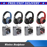 Bluetooth Noise Cancelling Headphones Over Ear Stereo Earphones Wireless Headset