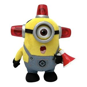Despicable Me 2 Talking Minion Bee-Do Fire Alarm Flashing Lights Plush Thinkway