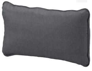 Ikea Cover for Vallentuna Back Cushion in Hillared dark Grey 503.295.18 New