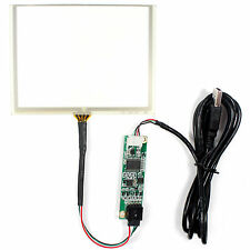 "5"" 4 Wire Resistive Touch Panel USB controller Card For AT050TN22 LCD Screen"